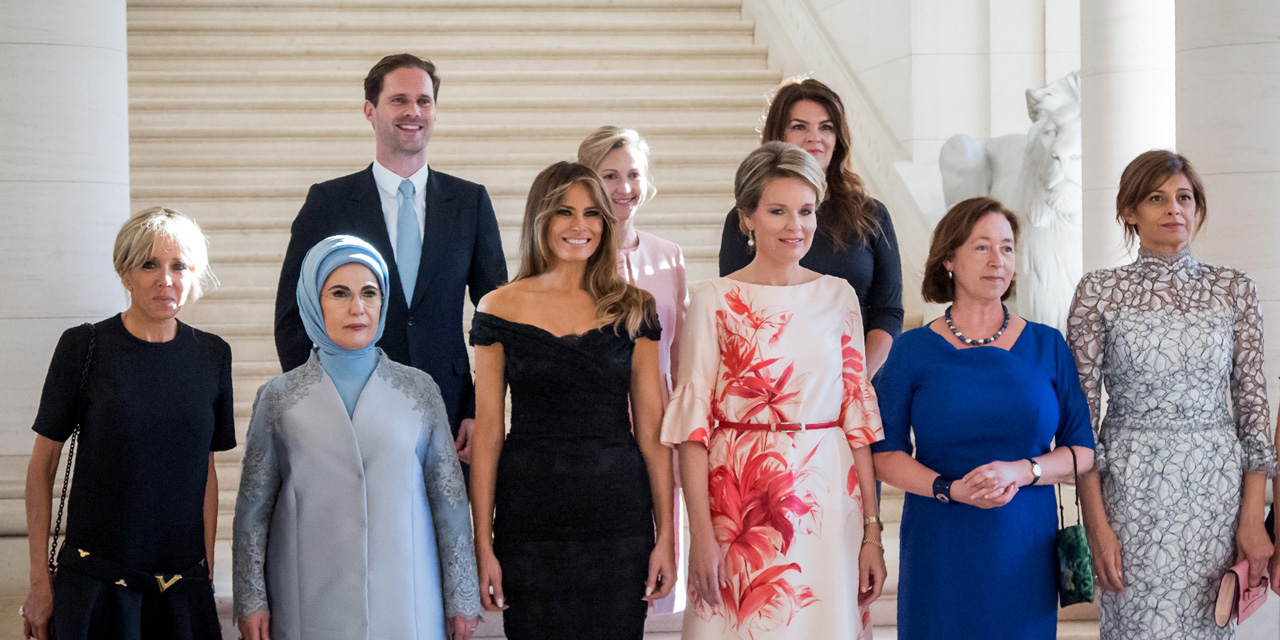 Gauthier Destenay in NATO First Spouse Photo