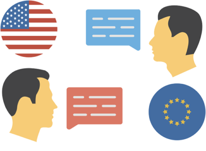 difference in american and european words